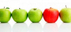 Pommes vertes une rouge1