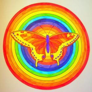 Être proactif Mandala papillon