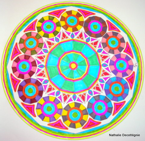 Mandala-Rosaces